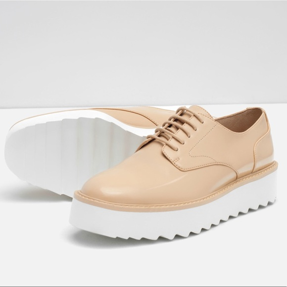 Zara Shoes   Zara Womens Nude Platform
